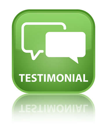 Testimonial green square button photo