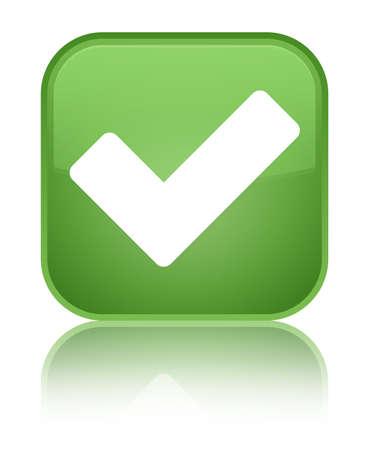validation: Validation icon green square button