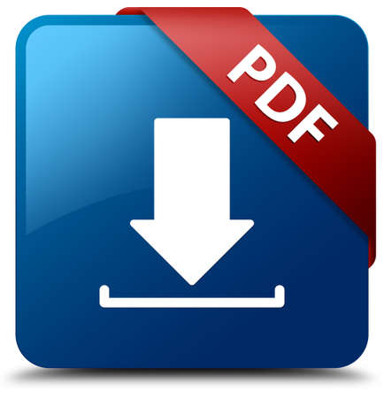 download folder: PDF download glossy blue square button