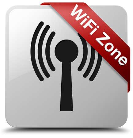wlan: WiFi Zone glossy white square button