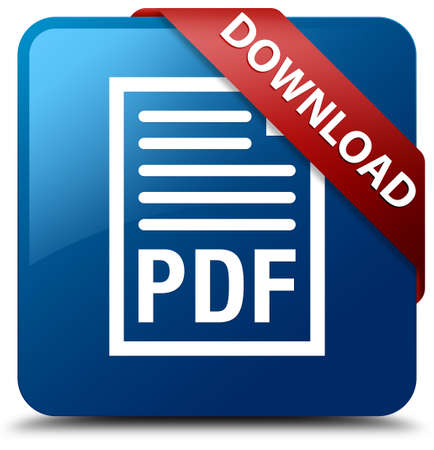 Download (PDF document icon) glossy blue square button photo