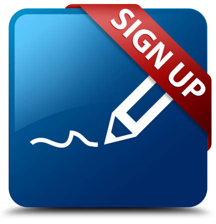registry: Sign up (pen icon) glossy blue square button