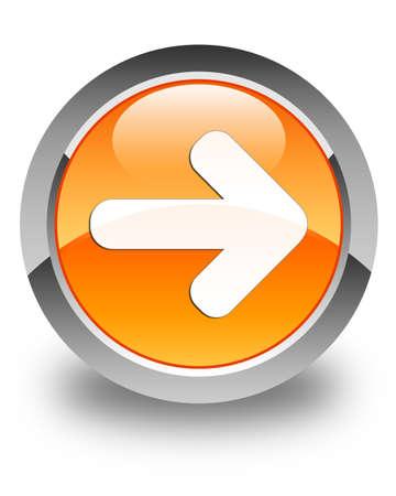 Next arrow icon glossy orange round button