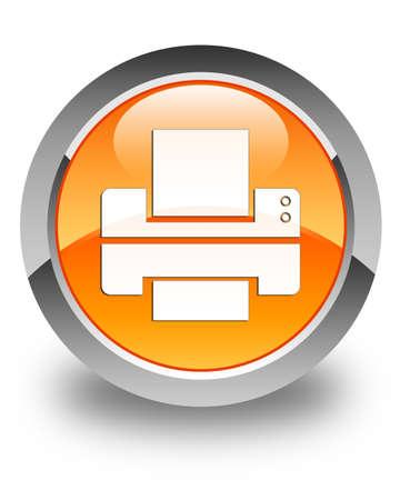 multifunction printer: Printer icon glossy orange round button