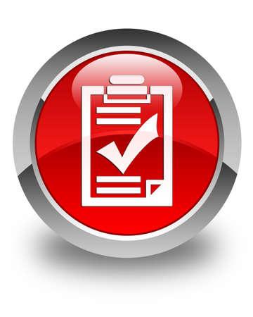 feedback form: Checklist icon glossy red round button