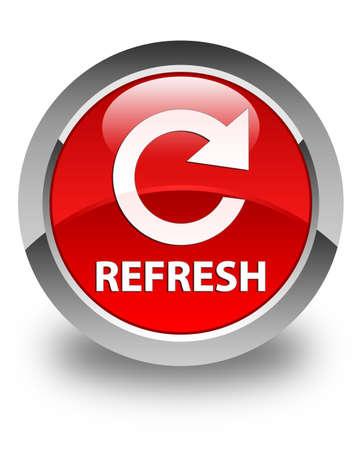 refresh button: Refresh glossy red round button