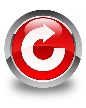 reply: Reply arrow icon glossy red round button