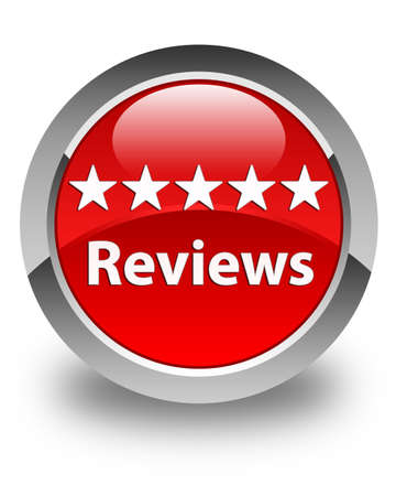 a round of inspection: Reviews glossy red round button