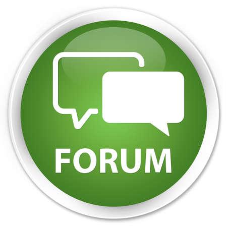 Forum bouton rond vert