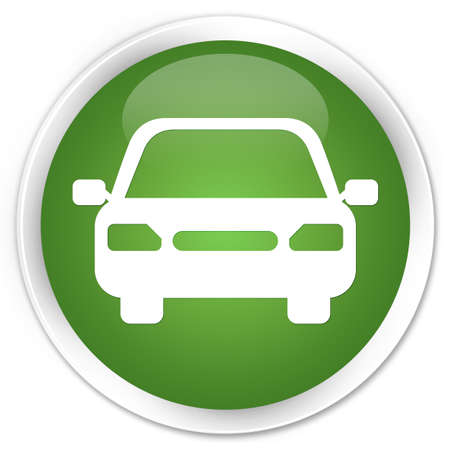 Car icon green round button photo