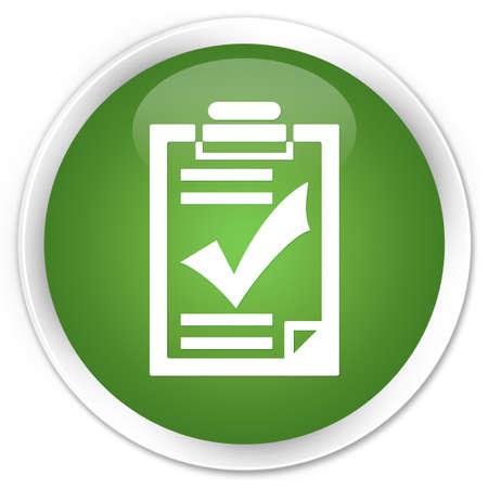 Checkliste Symbol grün runde Taste Standard-Bild - 35297964