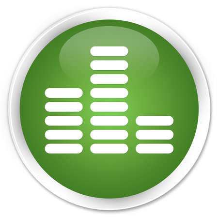Equalizer icon green round button