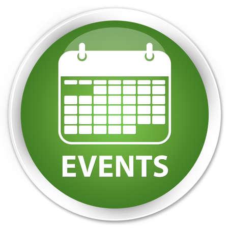 Events green round button Reklamní fotografie