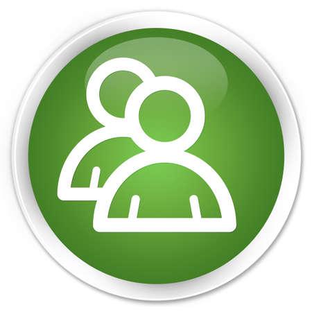 groupware: Icono Grupo bot�n redondo verde brillante