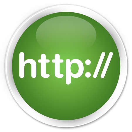 http: Http green glossy round button