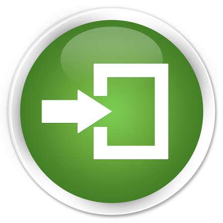 login icon: Login icon green round button Stock Photo