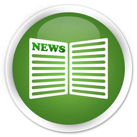 newspaper icon: Newspaper icon green round button