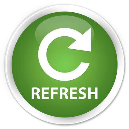 refresh: Refresh green round button