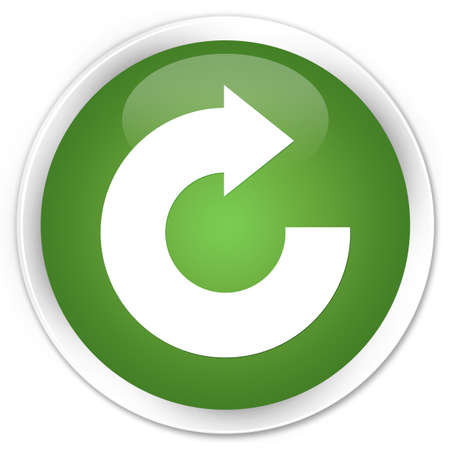 reply: Reply arrow icon green glossy round button