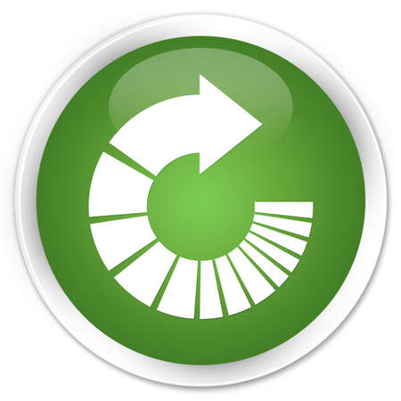 rotate: Rotate arrow icon green glossy round button Stock Photo