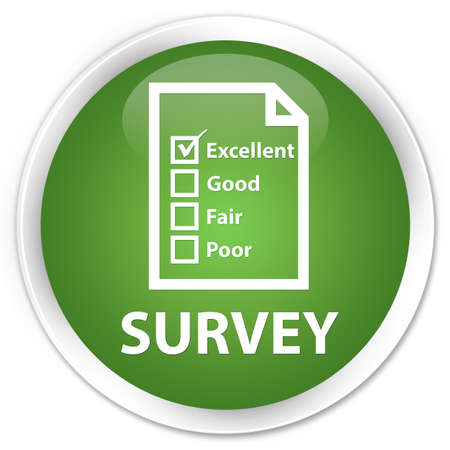 customer survey: Survey green round button