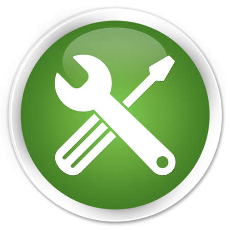 control tools: Tools icon green round button