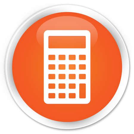 multiply: Calculator icon orange glossy round button Stock Photo