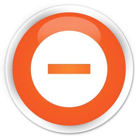 terminate: Cancel icon orange glossy round button