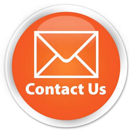 flysheet: Contact us orange glossy round button