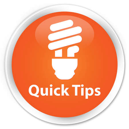hints: Quick tips (bulb icon) orange glossy round button