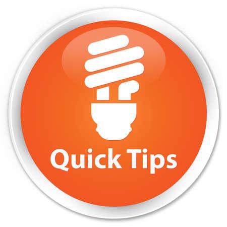 incandescence: Quick tips (bulb icon) orange glossy round button