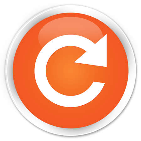 reply: Reply rotate icon orange glossy round button