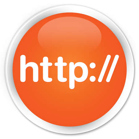 http: Http orange glossy round button