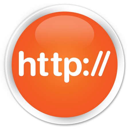 http: Http orange glossy round button