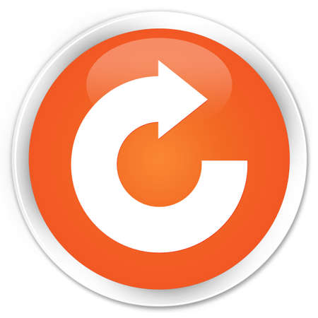 reply: Reply arrow icon orange glossy round button