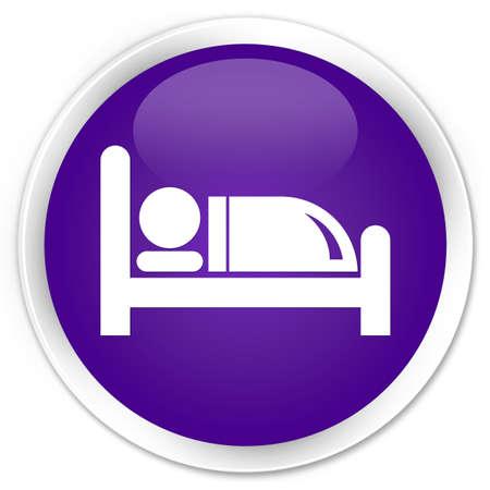 hospedaje: Hotel Icon cama botón redondo brillante púrpura