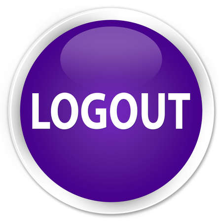 disconnect: Logout purple glossy round button