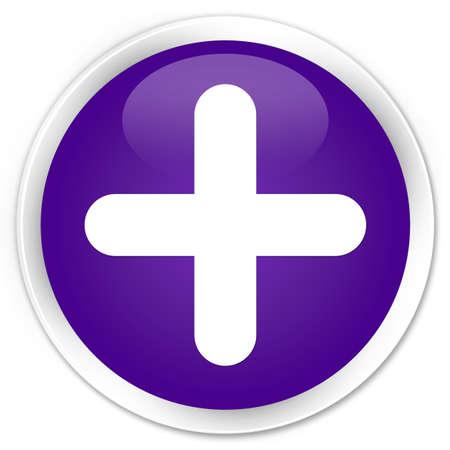 validate: Plus icon purple glossy round button