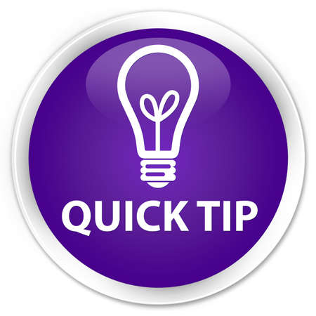 lighting button: Quick tip (bulb icon) purple glossy round button