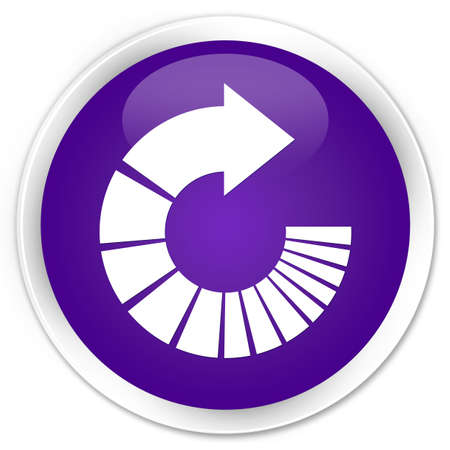 rotate: Rotate arrow icon purple glossy round button