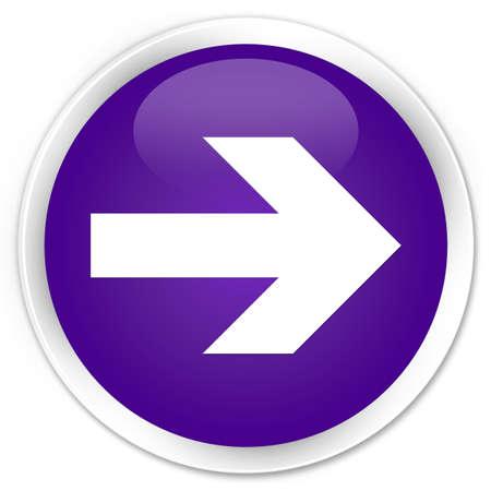 go forward: Next arrow icon purple glossy round button