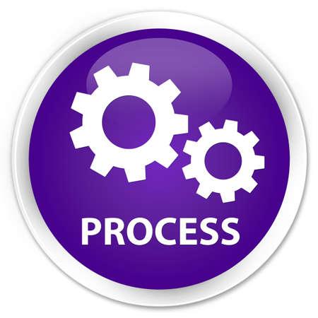 preference: Process purple glossy round button Stock Photo