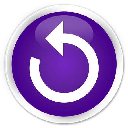refresh button: Refresh arrow icon purple glossy round button