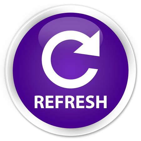 refresh button: Refresh purple glossy round button