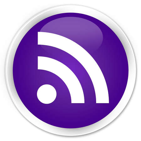 rss icon: RSS icon purple glossy round button