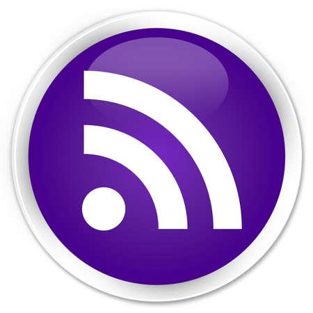 news update: RSS icon purple glossy round button