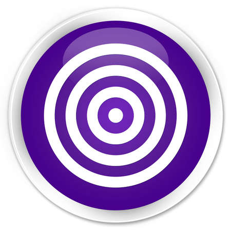 Target icon purple glossy round button photo