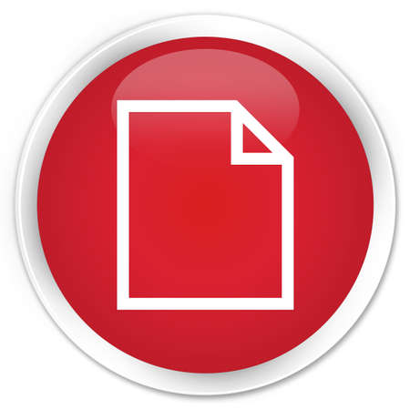 blank page: Blank page icon red glossy round button