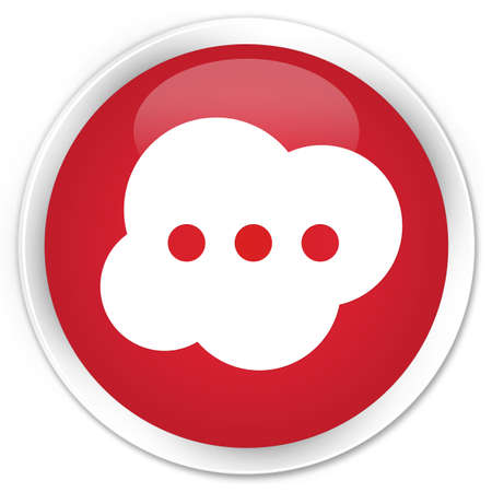 instant message: Brain icon red glossy round button