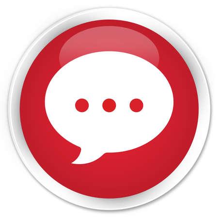 conversation icon: Conversation icon red glossy round button